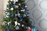 новогодняя фотостудия голубая