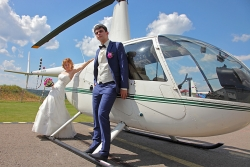 свадебная фотосъемка у вертолета