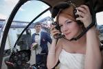 свадебная фотосессия невеста- пилот