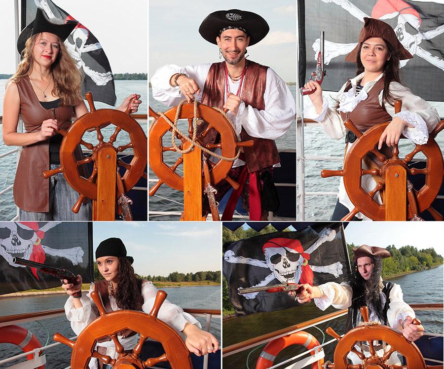 выездная фотостудия в пиратском стиле