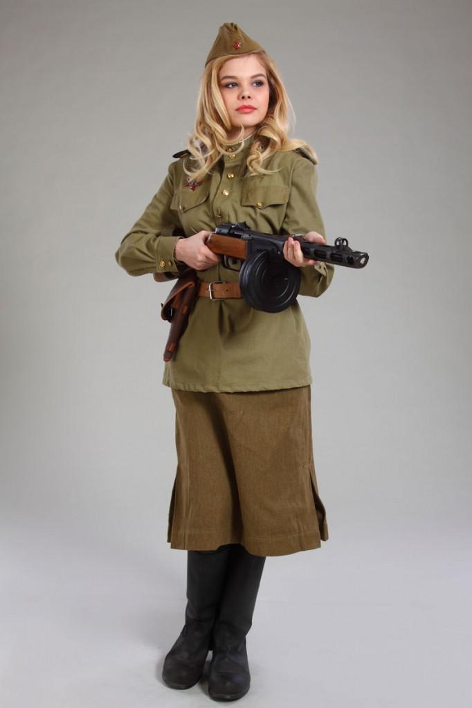 фотосессия женщина в военной форме