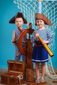 детская фотосессия Юные мореплаватели