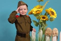 фотосъемка ребенок в военной форме