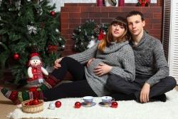 новогодняя фотосессия беременных