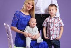 cемейная фотосессия с малышом