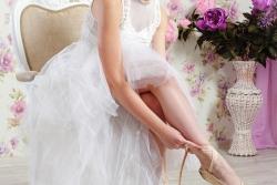 женская фотосессия балерина