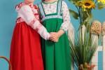 детская выездная фотостудия - девочки в сарафанах
